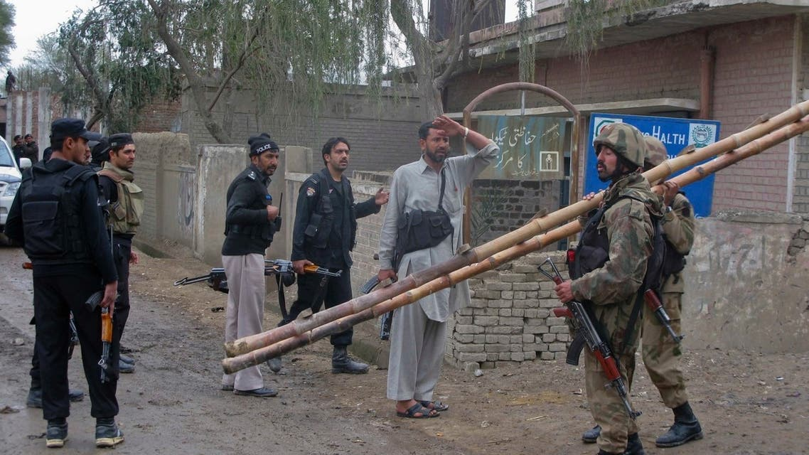 Pakistani security forces kill six militants, five of them suicide bombers who attacked Miriyan police station in Bannu, a district in north-west Pakistan. (Reuters)