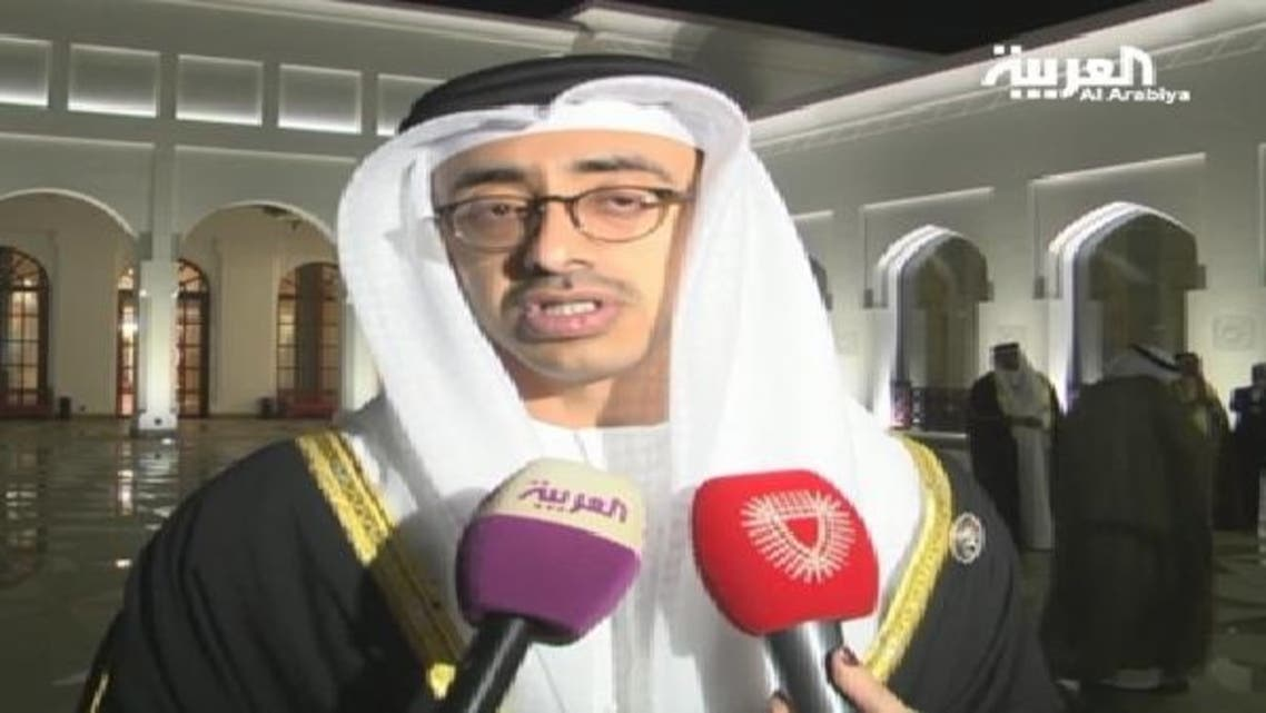 متحدہ عرب امارات کے وزیر خارجہ الشيخ عبدالله بن زايد آل نهيان