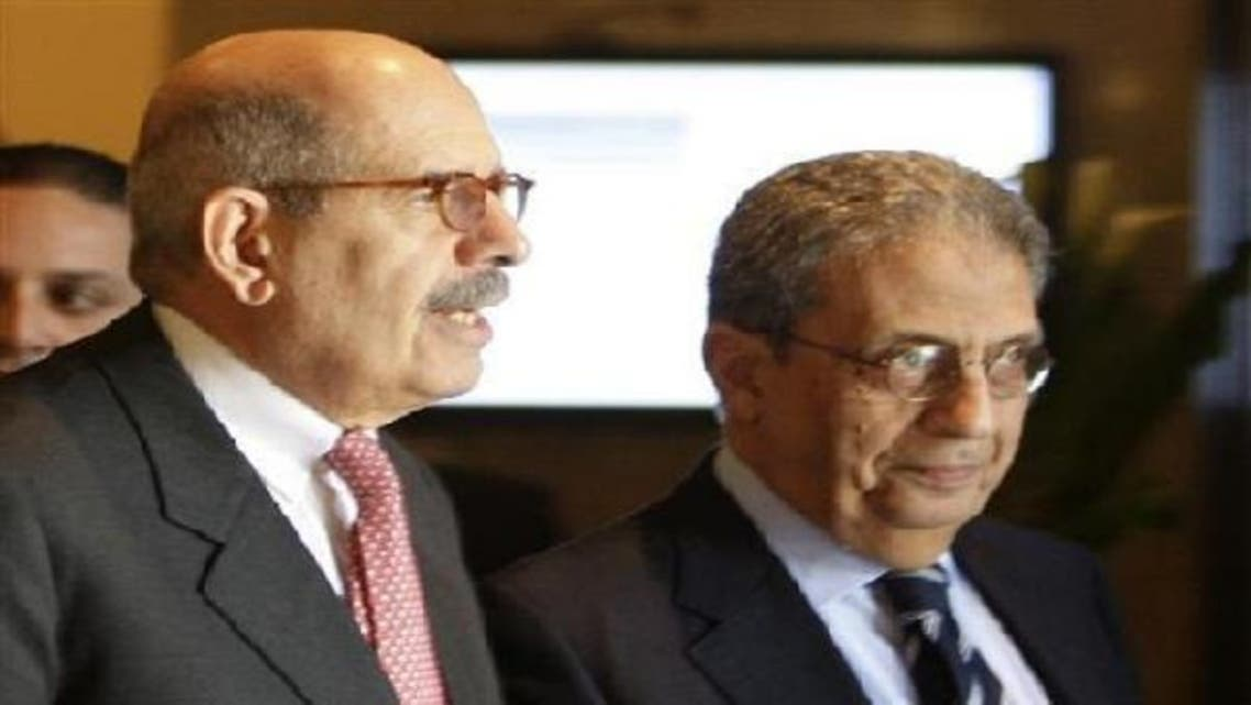 The front's main opposition members, Mohamed ElBaradei (L) and Amr Moussa (R), were accused of inciting supporters to rise up and overthrow Mursi during clashes the erupted over a divisive constitution. (Reuters)