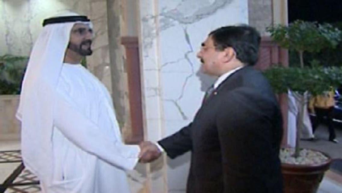 Sheikh Mohammed bin Rashid receives Egypt\'s presidential adviser for foreign affairs and international cooperation, Essam el-Haddad. (Al Arabiya)