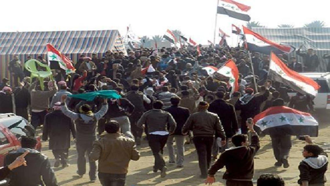 جانب من الاحتجاجات العراقية