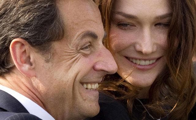 Former French president, Nicolas Sarkozy and his wife Carla Bruni, accompanied by their daughter Julia are expected to open their a palace that he has newly bought in Marrakech. (AFP)