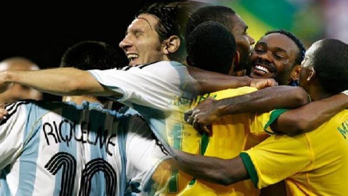 الأرجنتين والبرازيل.. طريقان مختلفان لهدف واحد في المونديال