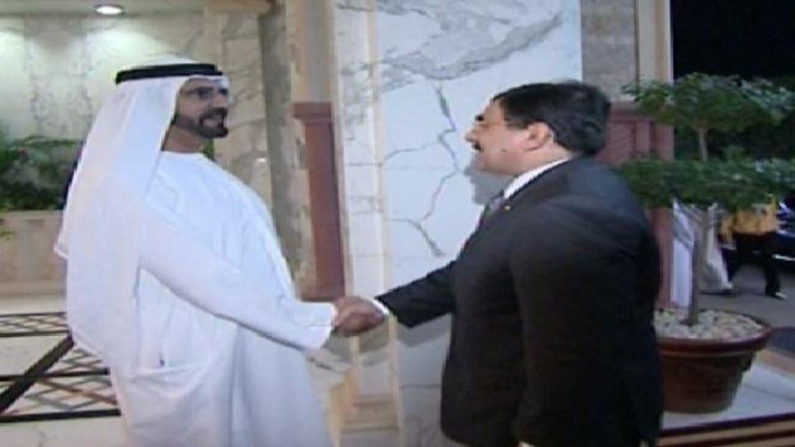 محمد بن راشد مصری صدر مشیر امور خارجہ کو خوش آمدید کہتے ہوئے