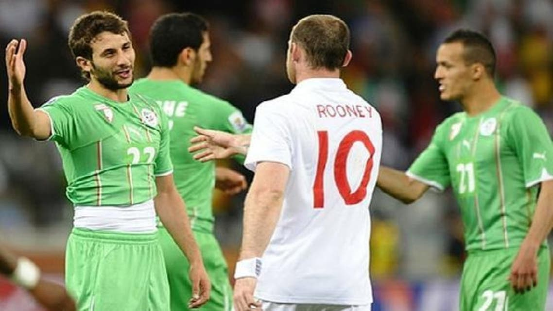 Algeria midfielder Djamel Abdoun (L) will not play in the upcoming African Nations Cup due to an injury. (AFP)