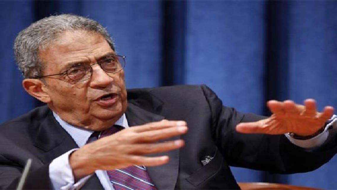 عمرو موسى رئيس حزب المؤتمر وعضو جبهة الإنقاذ الوطني في مصر