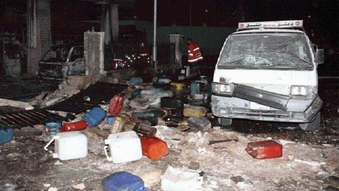 پٹرول پمپ پر دھماکے کے بعد تباہی کا منظر