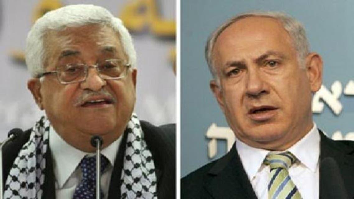اسرائیلی وزیر اعظم بنجمن نیتن یاہو اور فلسطینی صدر محمود عباس: فائل