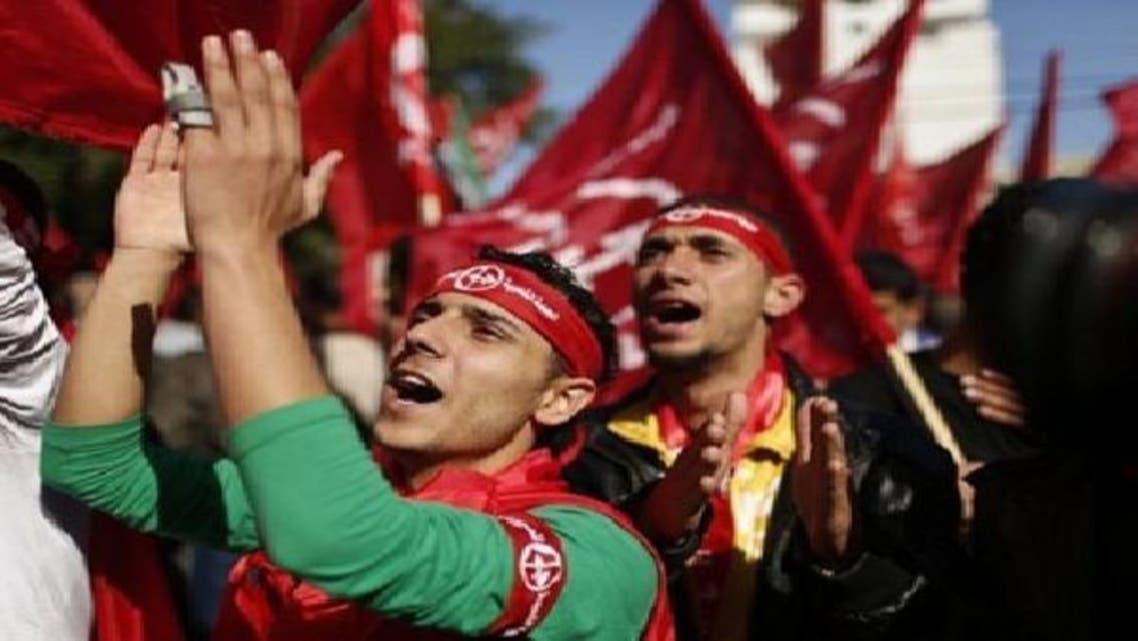 غزہ شہر میں فلسطینی پاپولر فرنٹ برائے آزادیٔ فلسطین کے پینتالیسویں یوم تاسیس کے موقع پر 6 دسمبر کو نکالی گئی ریلی میں شریک ہیں: فائل