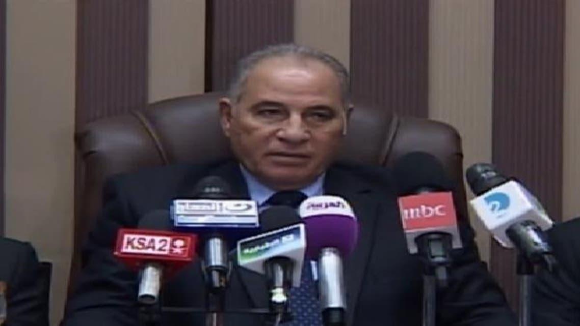أحمد الزند خلال المؤتمر الصحافي