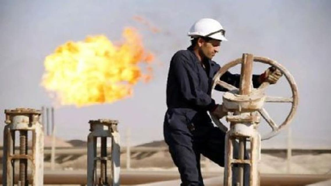A worker at the West Qurna oilfield in Iraq's southern province of Basra. (Reuters)