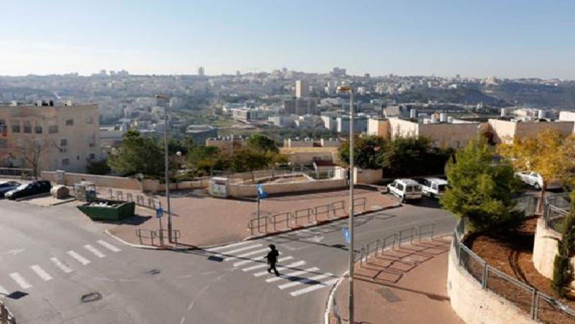 مقبوضہ بیت المقدس کے نواح میں قائم کی گئی یہودی بستی رامات شلومو کا ایک منظر۔