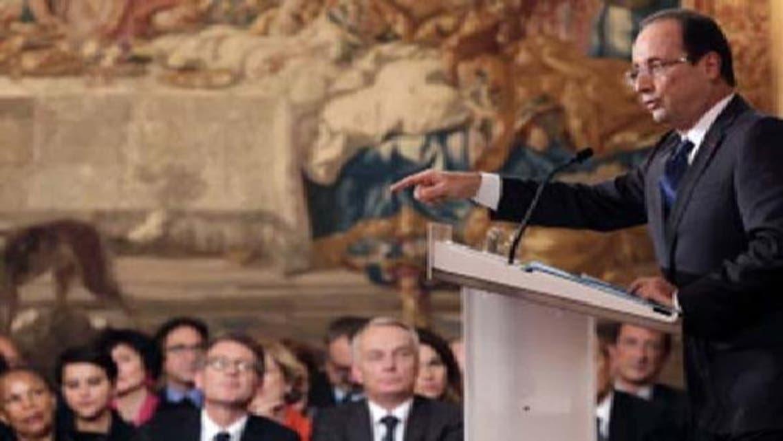 ایس این سی کو تسلیم  کرنے سے اسد حکومت کے خاتمے میں مدد ملے گی: اولاند