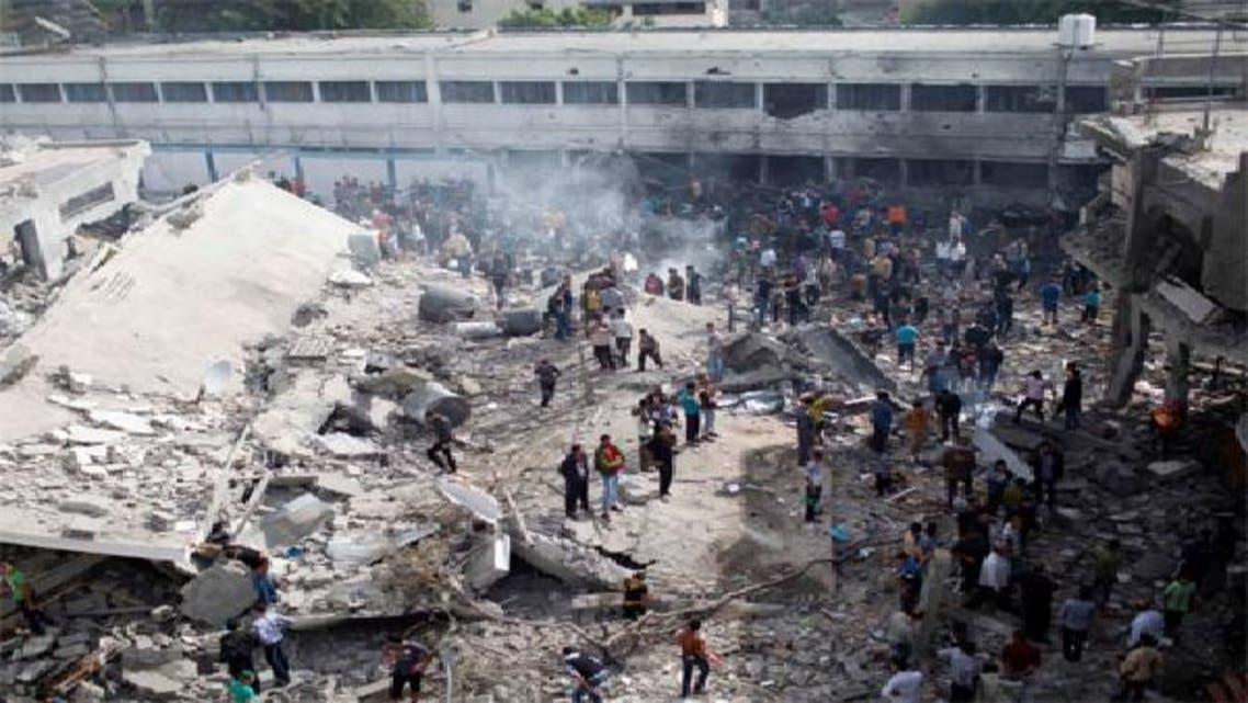 جانب من آثار القصف الإسرائيلي على غزة