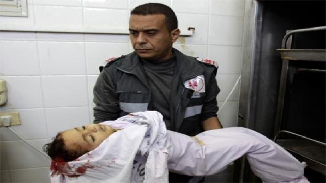 18 ماہ کے ایاد ابو خوصہ اسرائیلی بمباری میں شہید ہوا