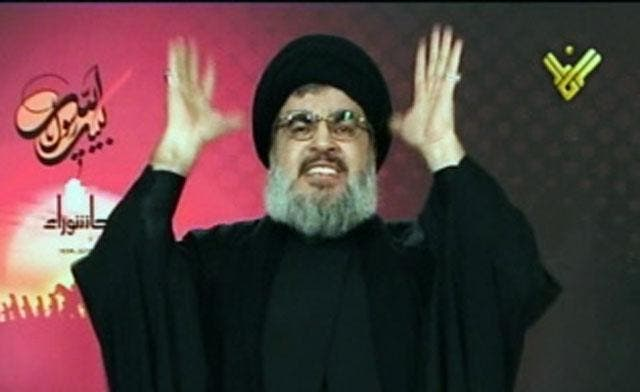 Hezbollah leader Hassan Nasrallah pledged the Lebanese Shiite group's support for the Hamas rulers of Gaza in the face of Israel's air war. (Reuters)