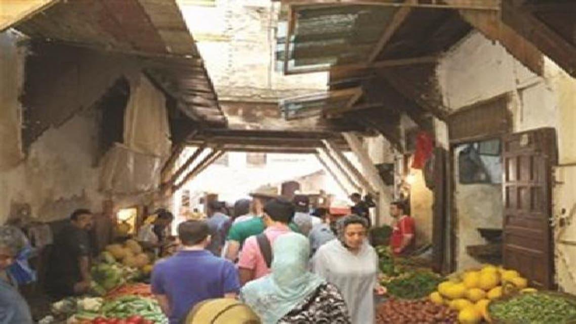 سوق شعبية في فاس بالمغرب