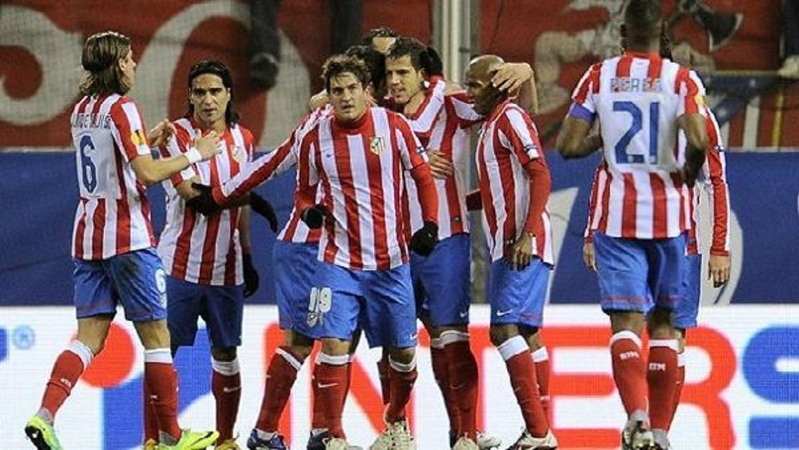 Atletico Madrid players (pictured) and Athletico Bilbao are set to enter dangerous territory on Thursday, literally, as the teams travel to Israel. (AFP)