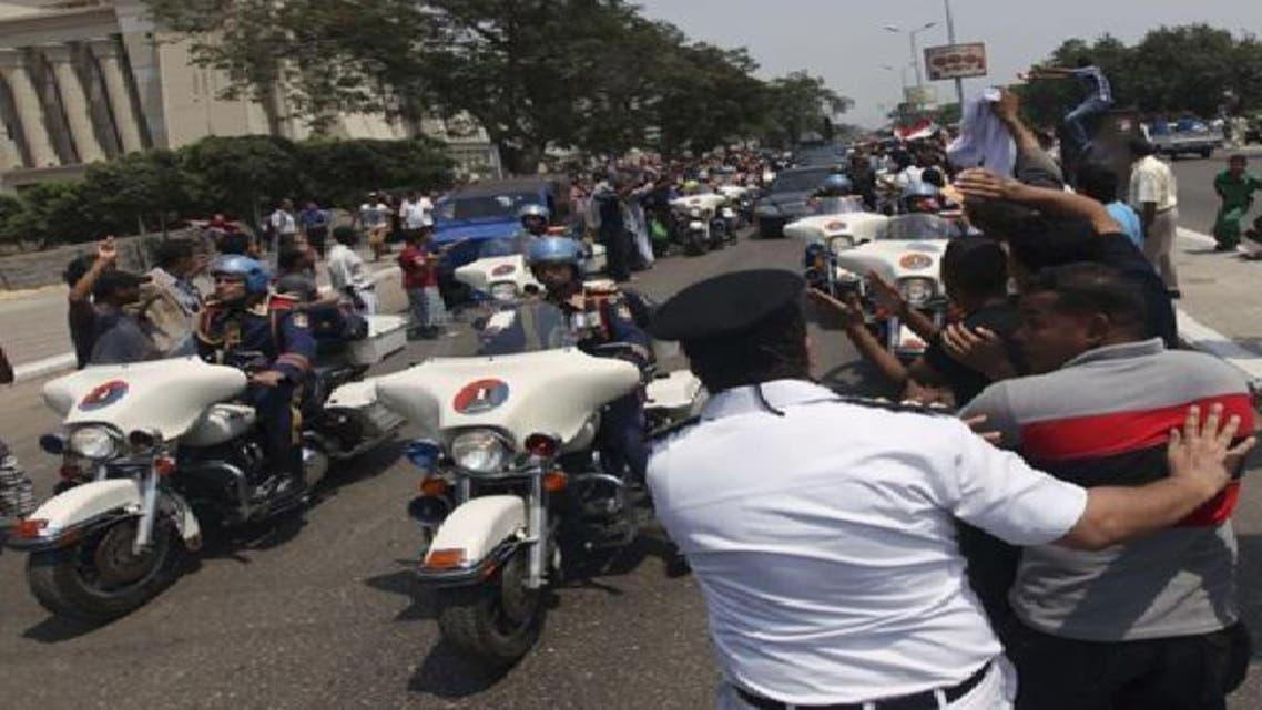 موكب سابق للرئيس المصري محمد مرسي في القاهرة