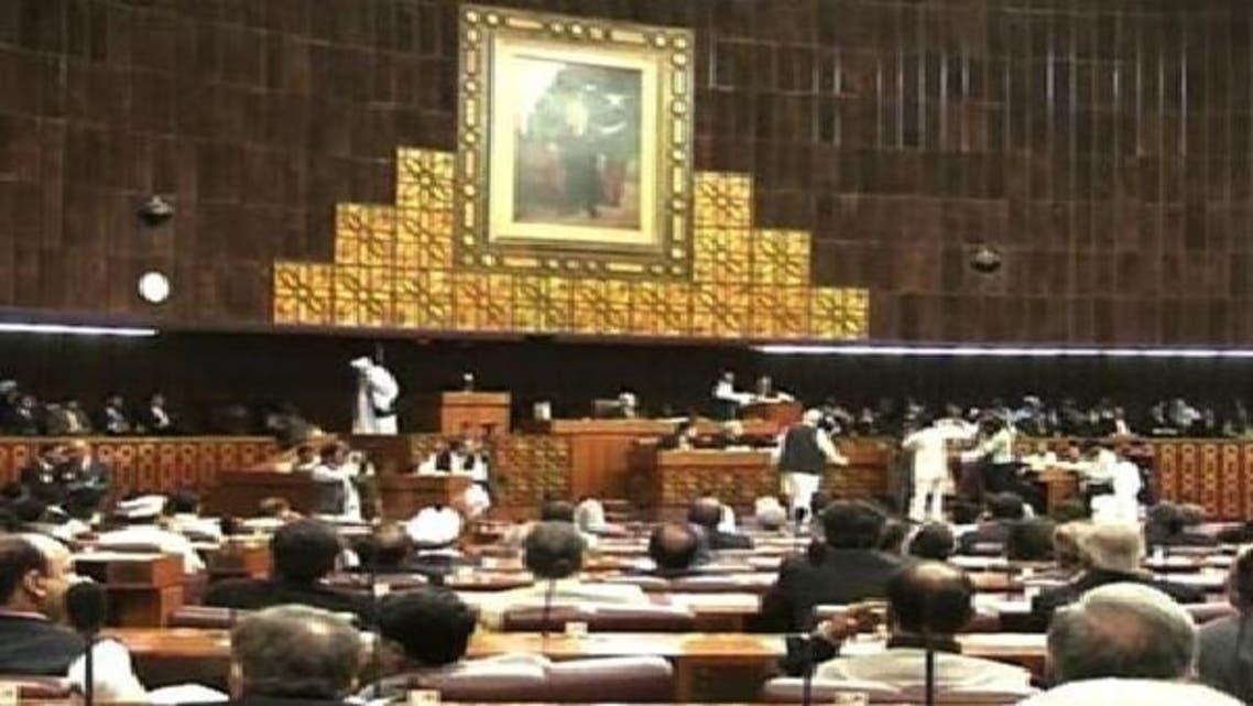 جانب من اجتماعات البرلمان الباكستاني