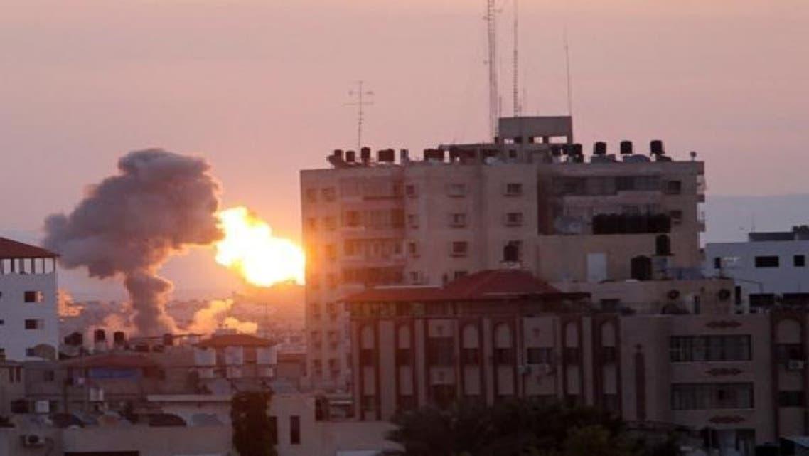 غزہ پر اسرائیلی بمباری کا منظر