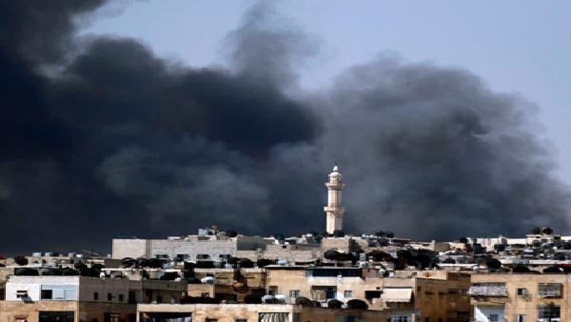 قصف سابق على إدلب