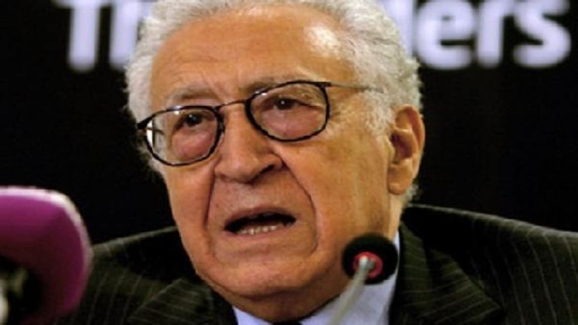 """Lakhdar Brahimi said there should be an """"evolution toward the new Syria"""" and that """"it's the Syrians who will decide what kind of regime they will have."""" (AFP)"""