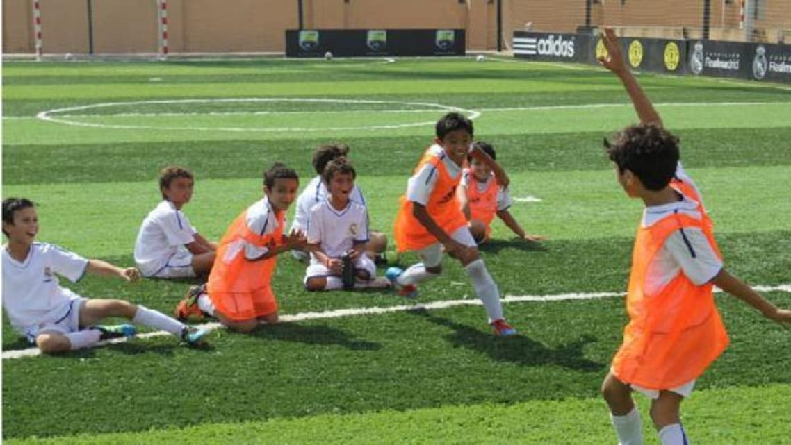 Students at Realmadrid Foundation Academy. (Photo courtesy of Real Madrid Foundation Academy - Egypt Facebook page)