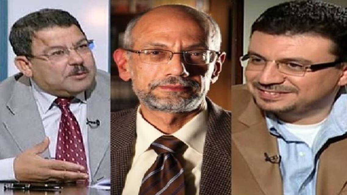 دائیں سے: عمرو الليثی، ايمن الصياد وسيف عبدالفتاح
