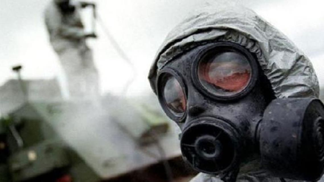 U.S. officials said that the Syrian military has loaded precursor chemicals for the deadly nerve gas sarin into aerial bombs but there is no confirmation that the bombs are being loaded onto planes. (AFP)