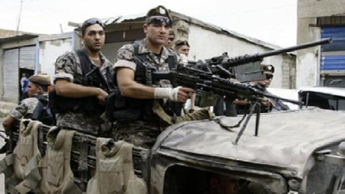 Lebanese army troops deploy in Wadi Khaled on Lebanon\'s northern border with Syria in May 2011. (AFP)
