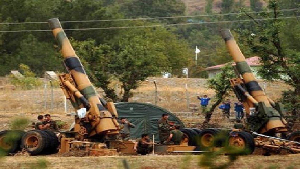 المدفعية التركية تواصل قصف المواقع العسكرية السورية