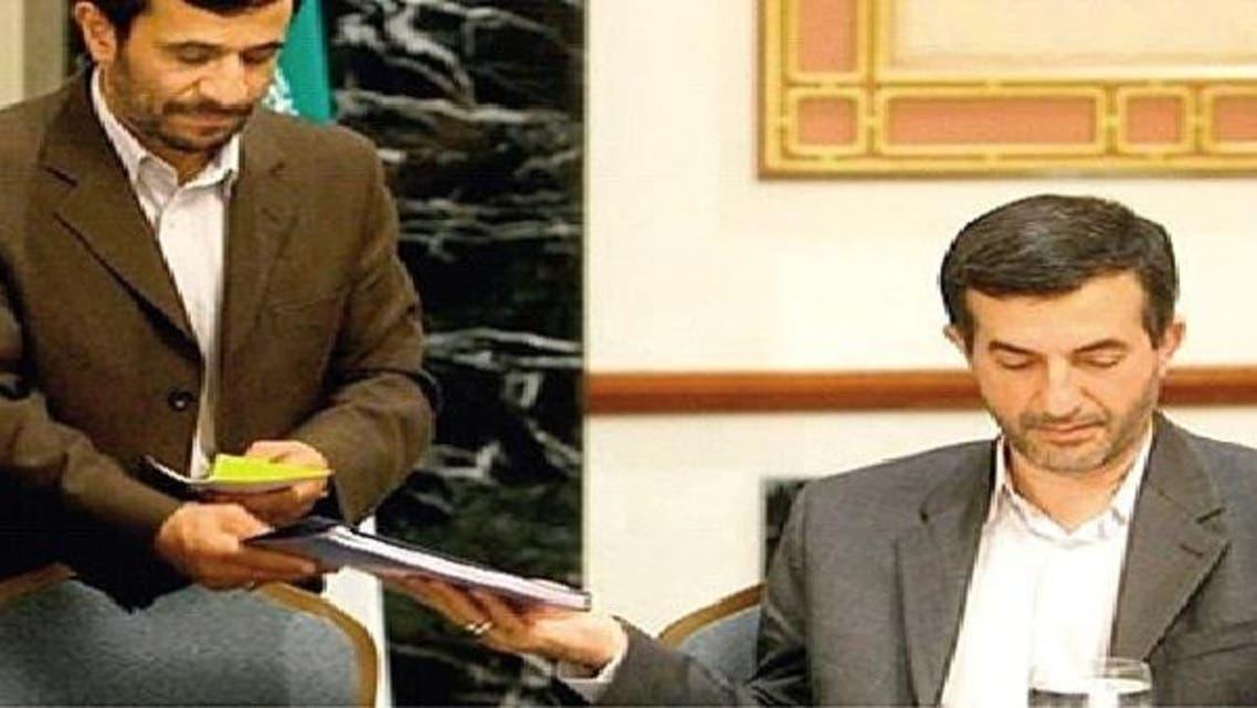 ایرانی صدر محمود احمدی نژاد اور ان کے سمدھی اسفند یار رحیم مشائی
