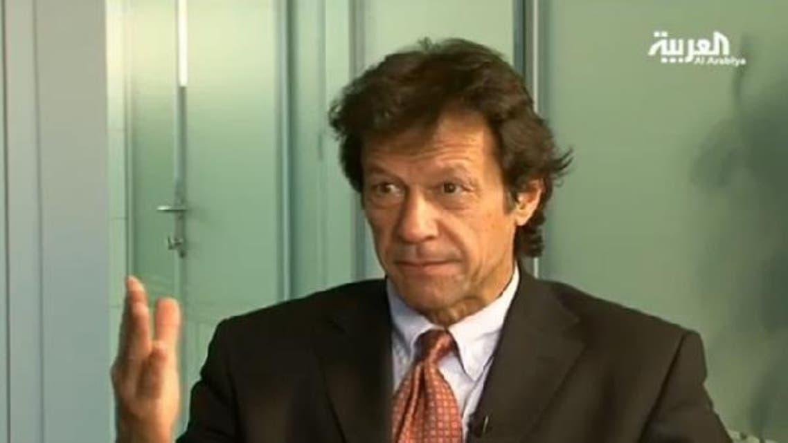 Video: Pakistan Tehreek-e-Insaf Chairman Imran Khan talks to Al Arabiya's Faisal J. Abbas. (Al Arabiya)
