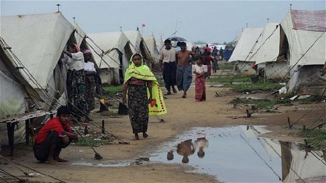 Muslim Rohingyas at the Say Thamagyi Internally Displaced Persons (IDP) camp, located on the outskirts of Sittwe, capital of Myanmar's western Rakhine state. (AFP)
