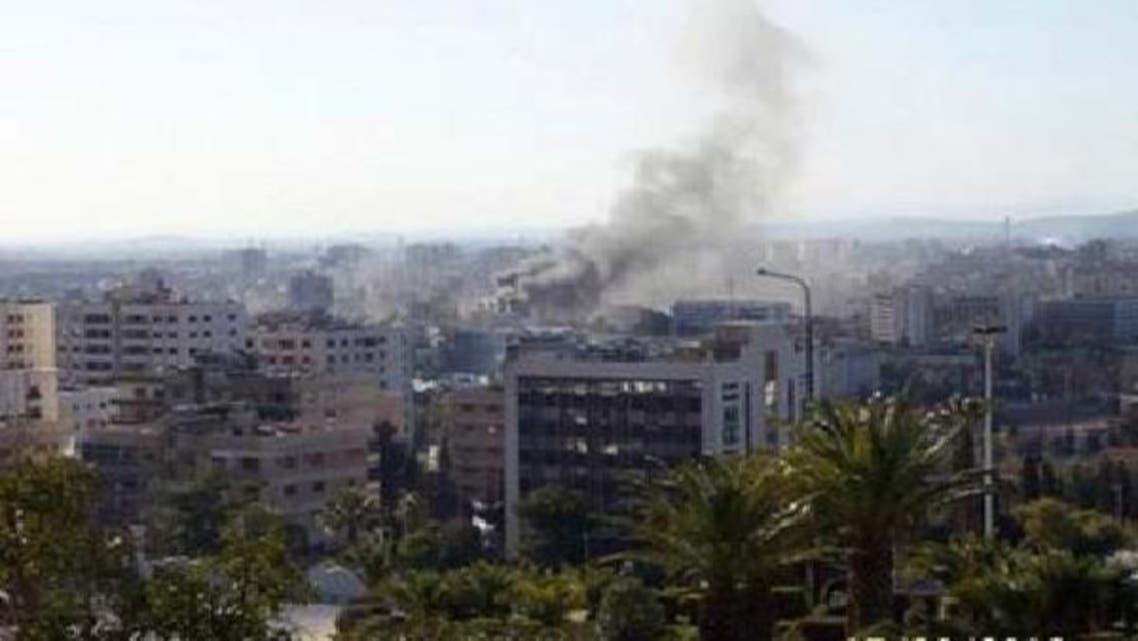 دمشق میں داما روز ہوٹل کے نزدیک بم دھماکا ہوا ہے