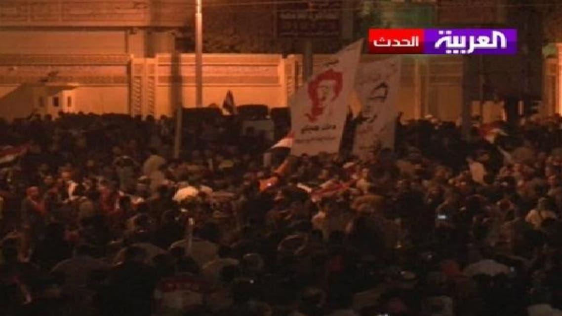 صدارتی محل کی جانب جانے والی شاہراہ کو خاردار تار لگا کر بند کر دیا گیا تھا