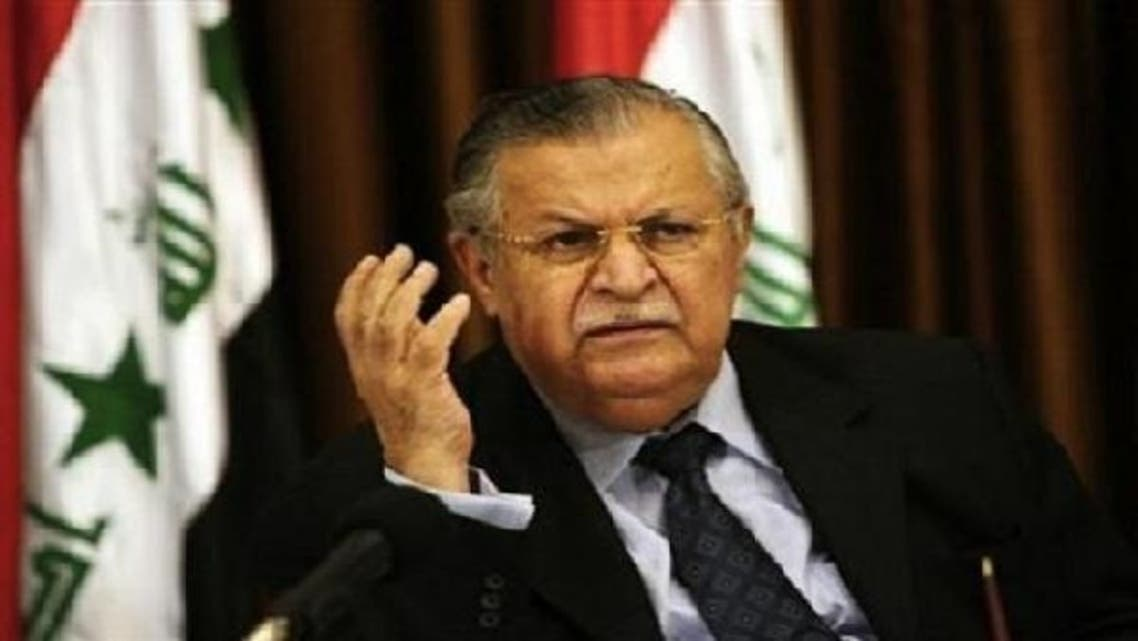Talabani said Malki doesn't want to declare war and he isn't able to do it.  (AFP)