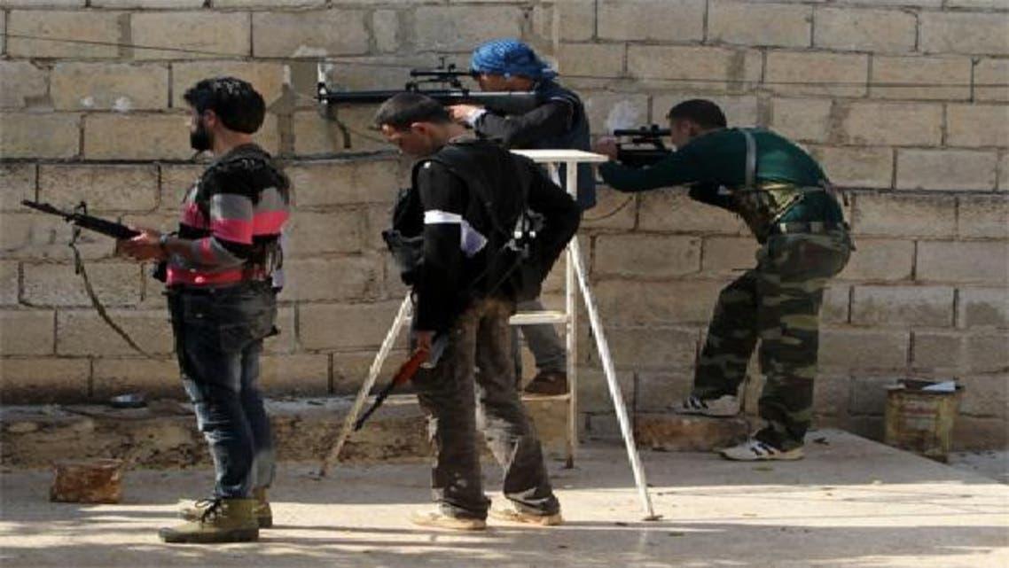عناصر من الجيش الحر في ادلب