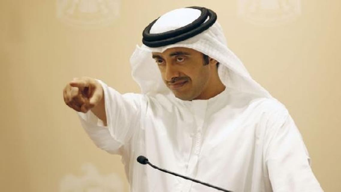 UAE Foreign Minister Sheikh Abdullah bin Zayed al-Nahayan urged negotiations or international arbitration in the dispute over three islands in the Gulf. (Reuters)