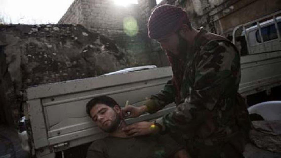 شامی باغیوں نے دس سرکاری فوجیوں کو موت کے گھاٹ اتارا ہے۔