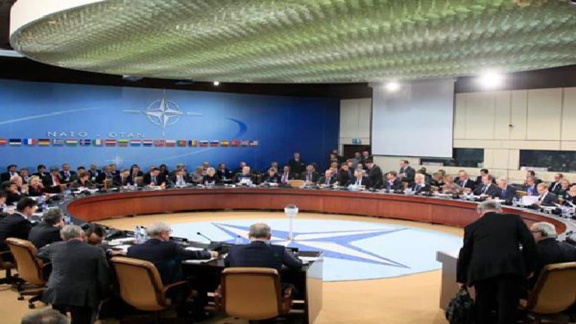 جانب من اجتماع حلف شمال الأطلسي في بروكسل