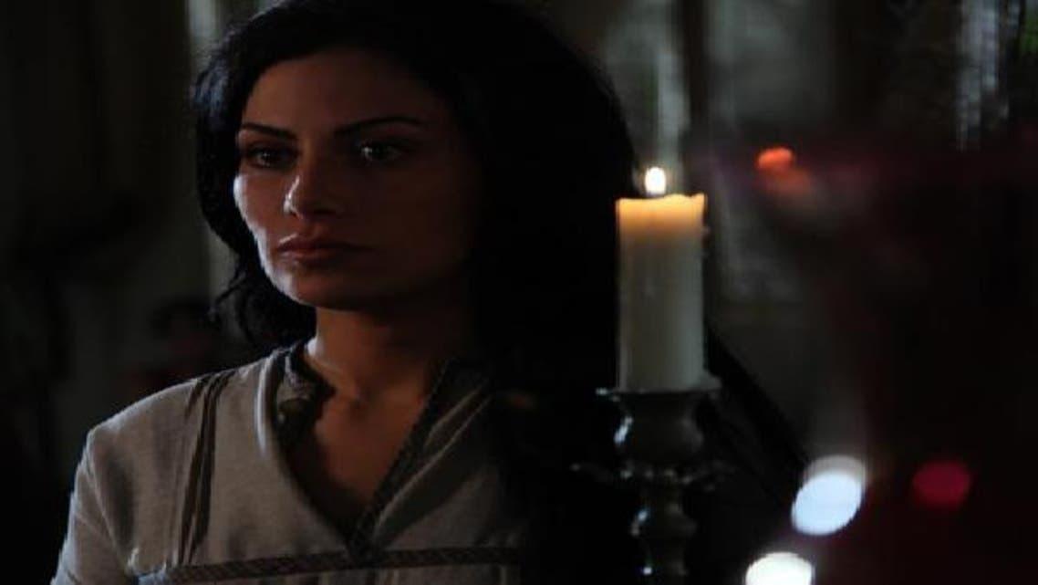 مشهد من الفيلم تظهر فيه الممثلة صبا مبارك