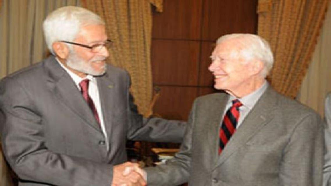 الغريانى أثناء لقائه مع الرئيس الأمريكى السابق كارتر