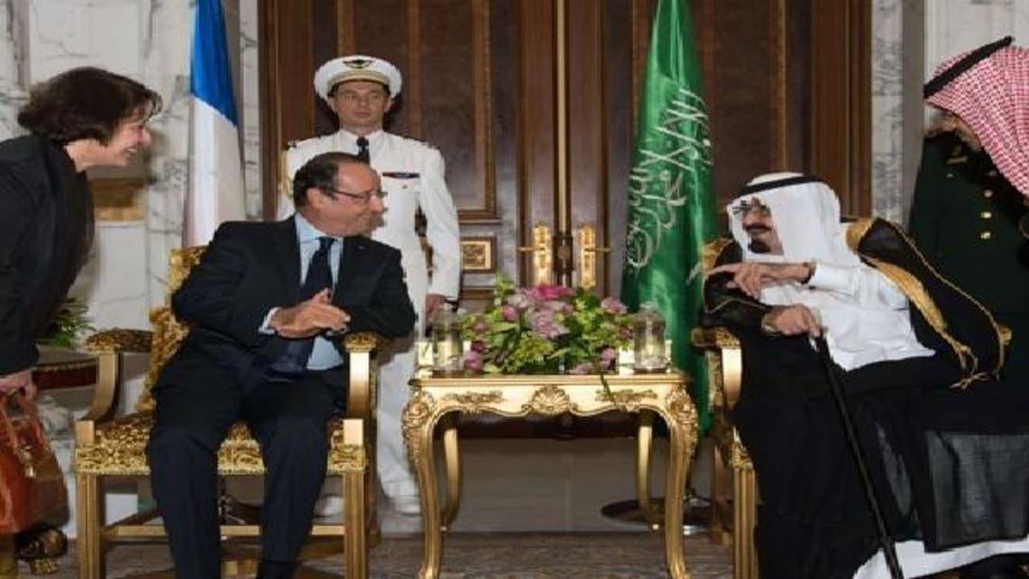 منصب سنبھالنے کے بعد فرانسیسی صدر کا کسی عرب کا پہلا دورہ ہے
