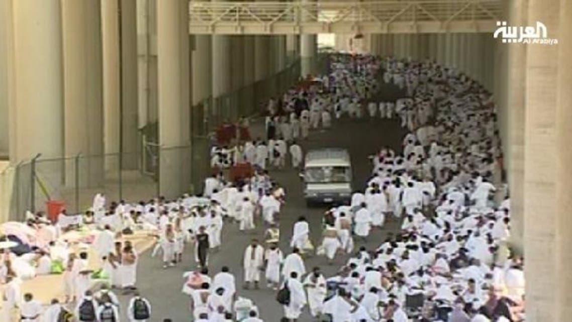 Pilgrims swamp the Mashaar Mena mid-hajj season. (Al Arabiya)