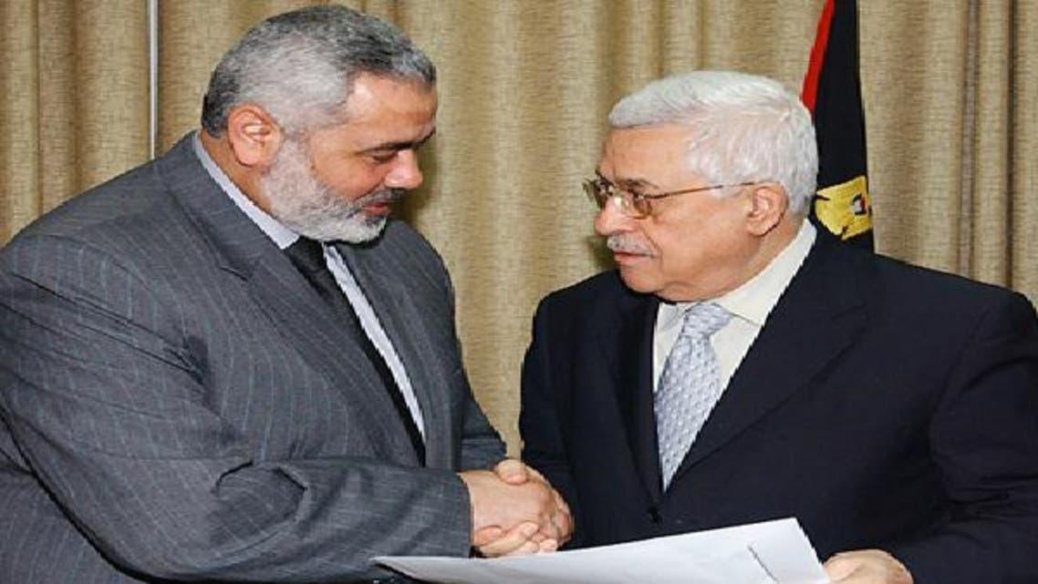 لقاء سابق بين عباس وهنية