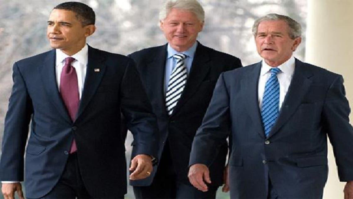 بوش وكلينتون وأوباما
