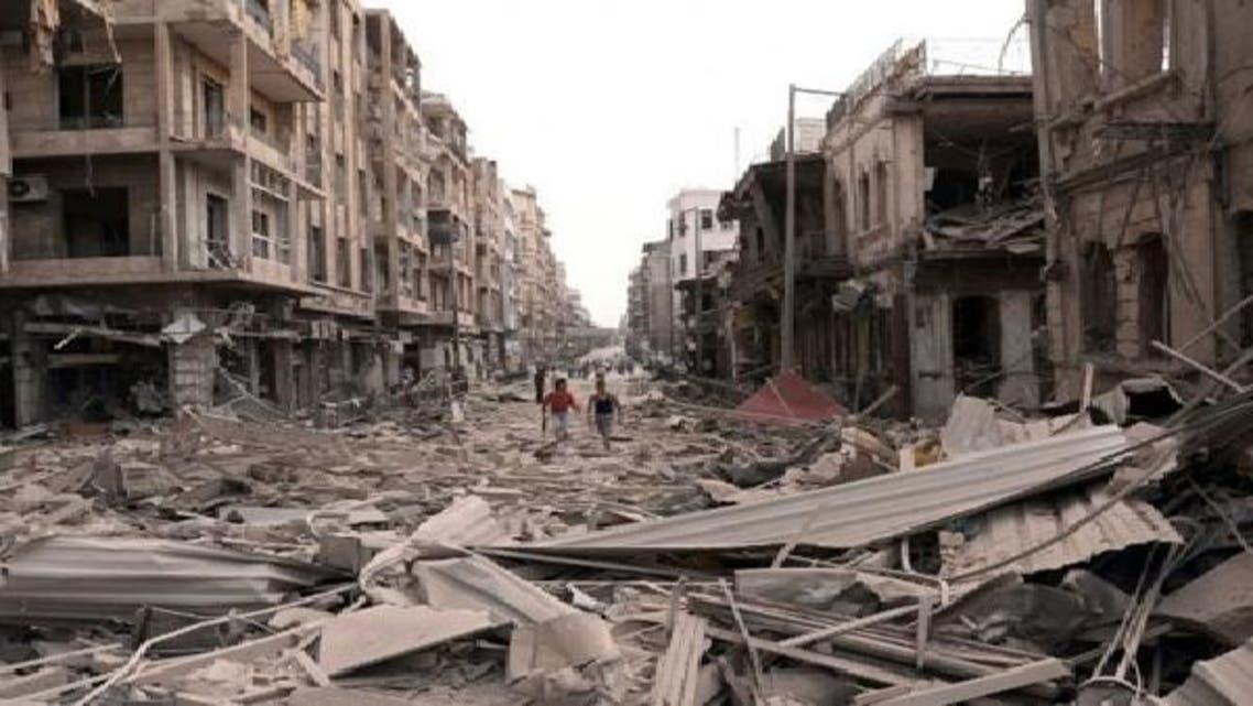 جنگ سے تباہ حال شامی بستیوں کا ایک منظر