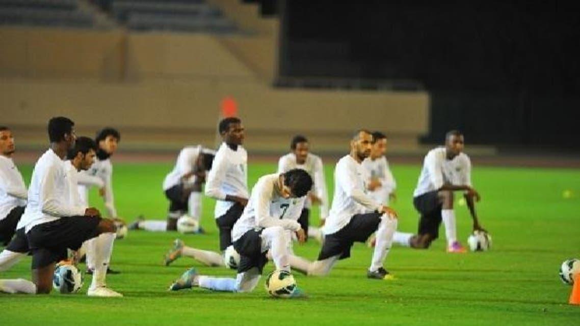 لقطة من تدريبات المنتخب السعودي
